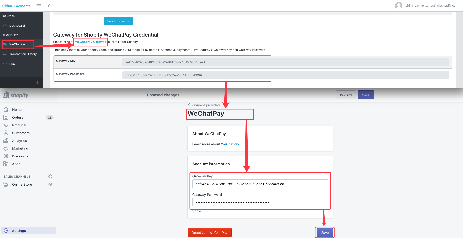 WeChatPay And Shopify Set